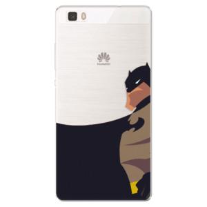 Silikonové pouzdro iSaprio (mléčně zakalené) BaT Komiks na mobil Huawei P8 Lite