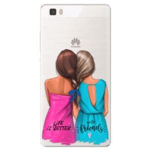 Silikonové pouzdro iSaprio (mléčně zakalené) Best Friends na mobil Huawei P8 Lite