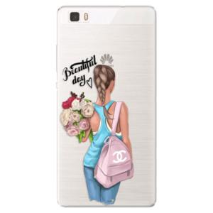 Silikonové pouzdro iSaprio (mléčně zakalené) Beautiful Day na mobil Huawei P8 Lite