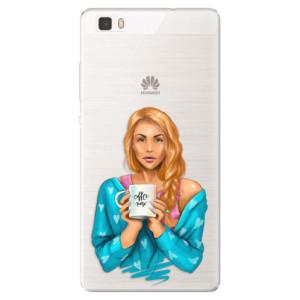 Silikonové pouzdro iSaprio (mléčně zakalené) Coffee Now Zrzka na mobil Huawei P8 Lite