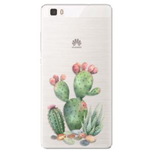 Silikonové pouzdro iSaprio (mléčně zakalené) Kaktusy 01 na mobil Huawei P8 Lite