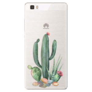 Silikonové pouzdro iSaprio (mléčně zakalené) Kaktusy 02 na mobil Huawei P8 Lite