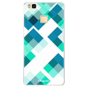 Silikonové pouzdro iSaprio (mléčně zakalené) Abstract Squares 11 na mobil Huawei P9 Lite