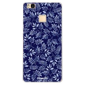 Silikonové pouzdro iSaprio (mléčně zakalené) Blue Leaves 05 na mobil Huawei P9 Lite