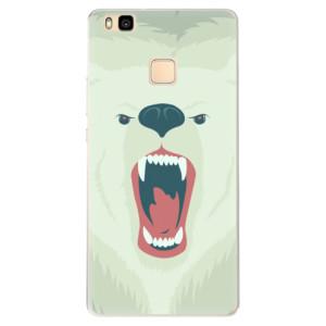 Silikonové pouzdro iSaprio (mléčně zakalené) Naštvanej Medvěd na mobil Huawei P9 Lite