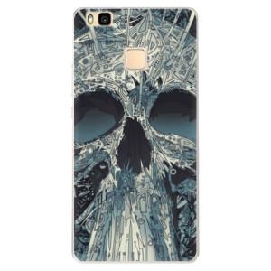 Silikonové pouzdro iSaprio (mléčně zakalené) Abstract Skull na mobil Huawei P9 Lite