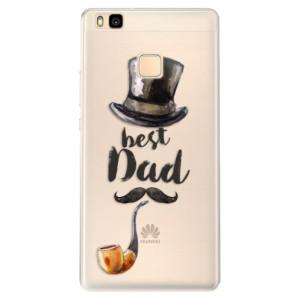 Silikonové pouzdro iSaprio (mléčně zakalené) Best Dad na mobil Huawei P9 Lite