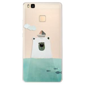 Silikonové pouzdro iSaprio (mléčně zakalené) Medvěd s Lodí na mobil Huawei P9 Lite