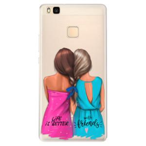 Silikonové pouzdro iSaprio (mléčně zakalené) Best Friends na mobil Huawei P9 Lite