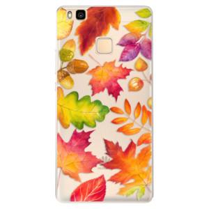 Silikonové pouzdro iSaprio (mléčně zakalené) Podzimní Lístečky na mobil Huawei P9 Lite