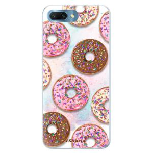 Silikonové pouzdro iSaprio (mléčně zakalené) Donutky Všude 11 na mobil Honor 10