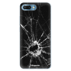 Silikonové pouzdro iSaprio (mléčně zakalené) Broken Glass 10 na mobil Honor 10