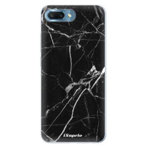 Silikonové pouzdro iSaprio (mléčně zakalené) Black Marble 18 na mobil Honor 10