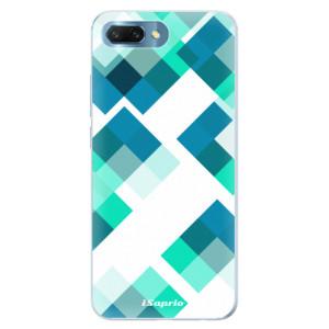 Silikonové pouzdro iSaprio (mléčně zakalené) Abstract Squares 11 na mobil Honor 10