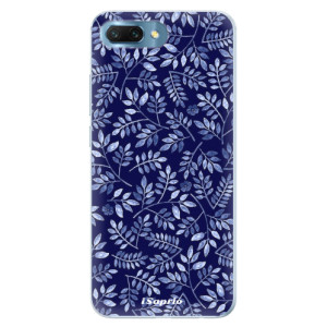 Silikonové pouzdro iSaprio (mléčně zakalené) Blue Leaves 05 na mobil Honor 10