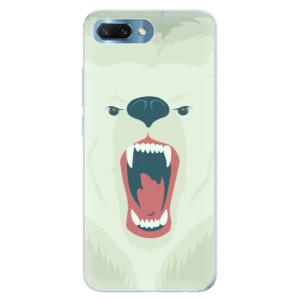 Silikonové pouzdro iSaprio (mléčně zakalené) Naštvanej Medvěd na mobil Honor 10