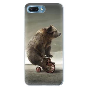 Silikonové pouzdro iSaprio (mléčně zakalené) Medvěd 01 na mobil Honor 10