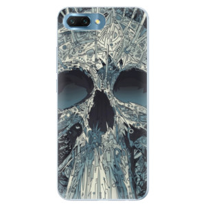 Silikonové pouzdro iSaprio (mléčně zakalené) Abstract Skull na mobil Honor 10