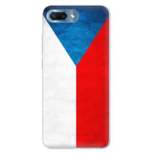 Silikonové pouzdro iSaprio (mléčně zakalené) Česká Vlajka na mobil Honor 10
