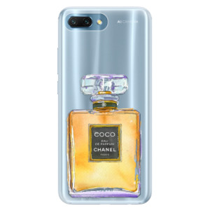 Silikonové pouzdro iSaprio (mléčně zakalené) Chanel Gold na mobil Honor 10