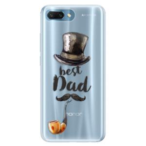 Silikonové pouzdro iSaprio (mléčně zakalené) Best Dad na mobil Honor 10