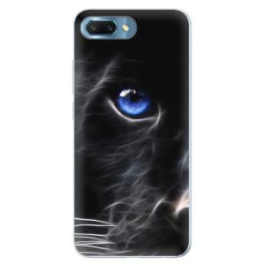 Silikonové pouzdro iSaprio (mléčně zakalené) Black Puma na mobil Honor 10