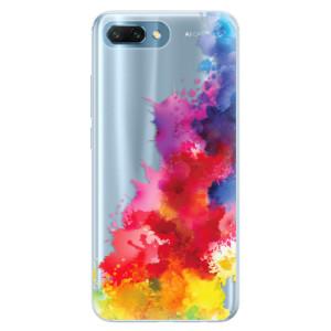 Silikonové pouzdro iSaprio (mléčně zakalené) Color Splash 01 na mobil Honor 10