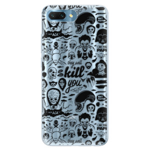Silikonové pouzdro iSaprio (mléčně zakalené) Komiks 01 black na mobil Honor 10