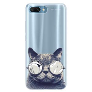 Silikonové pouzdro iSaprio (mléčně zakalené) Šílená Číča 01 na mobil Honor 10