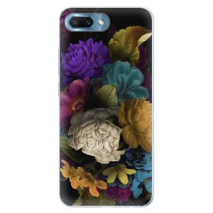 Silikonové pouzdro iSaprio (mléčně zakalené) Temné Květy na mobil Honor 10