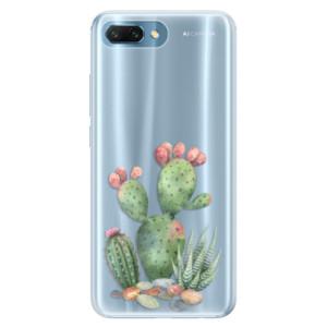 Silikonové pouzdro iSaprio (mléčně zakalené) Kaktusy 01 na mobil Honor 10