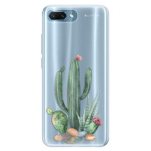 Silikonové pouzdro iSaprio (mléčně zakalené) Kaktusy 02 na mobil Honor 10