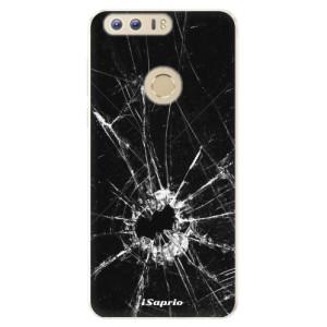 Silikonové pouzdro iSaprio (mléčně zakalené) Broken Glass 10 na mobil Honor 8
