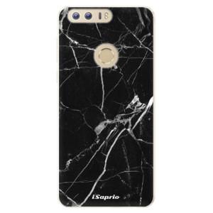 Silikonové pouzdro iSaprio (mléčně zakalené) Black Marble 18 na mobil Honor 8