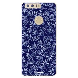 Silikonové pouzdro iSaprio (mléčně zakalené) Blue Leaves 05 na mobil Honor 8