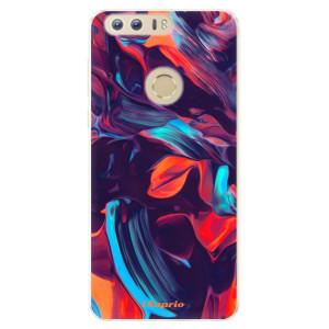 Silikonové pouzdro iSaprio (mléčně zakalené) Barevný mramor 19 na mobil Honor 8