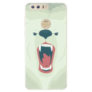 Silikonové pouzdro iSaprio (mléčně zakalené) Naštvanej Medvěd na mobil Honor 8