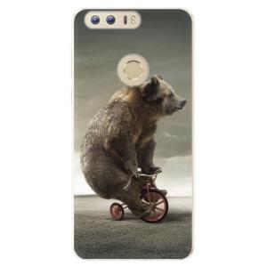 Silikonové pouzdro iSaprio (mléčně zakalené) Medvěd 01 na mobil Honor 8