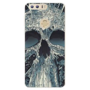 Silikonové pouzdro iSaprio (mléčně zakalené) Abstract Skull na mobil Honor 8