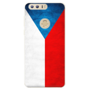 Silikonové pouzdro iSaprio (mléčně zakalené) Česká Vlajka na mobil Honor 8
