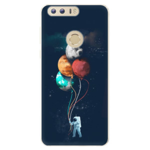 Silikonové pouzdro iSaprio (mléčně zakalené) Balónky 02 na mobil Honor 8