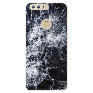 Silikonové pouzdro iSaprio (mléčně zakalené) Praskliny na mobil Honor 8