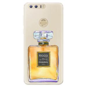 Silikonové pouzdro iSaprio (mléčně zakalené) Chanel Gold na mobil Honor 8