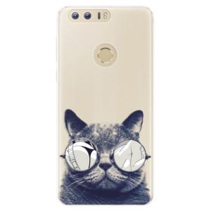 Silikonové pouzdro iSaprio (mléčně zakalené) Šílená Číča 01 na mobil Honor 8