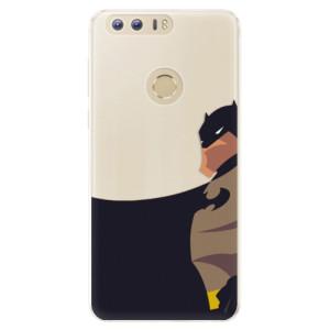 Silikonové pouzdro iSaprio (mléčně zakalené) BaT Komiks na mobil Honor 8