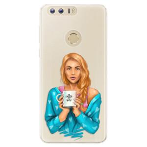 Silikonové pouzdro iSaprio (mléčně zakalené) Coffee Now Zrzka na mobil Honor 8