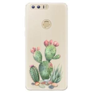 Silikonové pouzdro iSaprio (mléčně zakalené) Kaktusy 01 na mobil Honor 8
