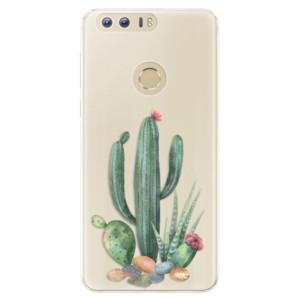 Silikonové pouzdro iSaprio (mléčně zakalené) Kaktusy 02 na mobil Honor 8