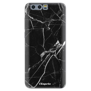 Silikonové pouzdro iSaprio (mléčně zakalené) Black Marble 18 na mobil Honor 9