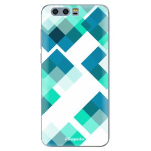 Silikonové pouzdro iSaprio (mléčně zakalené) Abstract Squares 11 na mobil Honor 9